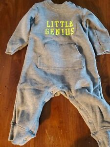 """Carters Baby Body Suit. Size 12 Months. """"Little Genius"""" so soft!"""