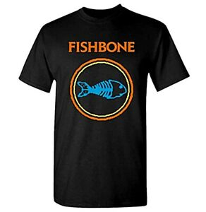 New Fishbone Classic Logo Punk SKA Rock Band Shirt (MED-2XL) badhabitmerch