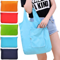 43*63cm Grocery Storage Handbag Foldable Solid Tote Pouch Reusable Shopping Bag