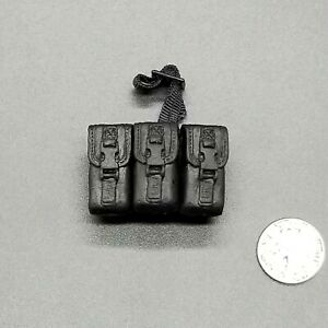 "1:6 Ultimate Soldier SWAT Black Drop Leg Belt Pouch 12"" GI Joe Dragon"