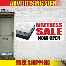 Mattress Sale Now Open Advertising Banner Vinyl Mesh Decal Sign bed furniture