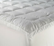 NEW Fitted Mattress Topper 800GSM Microfibre Cotton Japara Cover Queen Size