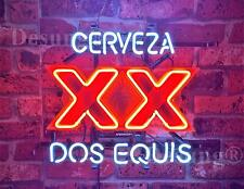 "Cerveza XX Dos Equis Neon Light Sign 17""x14"" Beer Bar Real Glass Lamp Decor"
