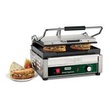 "Waring WPG250B Panini Supremo Sandwich Panini Grill 14.5"" x 11"" Ribbed 208v"