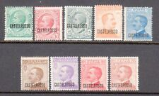 Castellorizo Scott 51-59 MH 9 Stamps Overprints Issued by Italian Rule in 1922 |