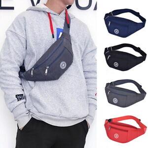 Unisex Running Bum Bag Travel Hiking Sport Fanny Pack Waist Belt Zip Pouch Bag
