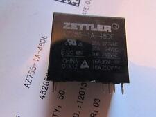 AZ755-1A-48DE Zettler 20 A SPST 48 VDC PCB Mount Sealed Miniature Power Relay