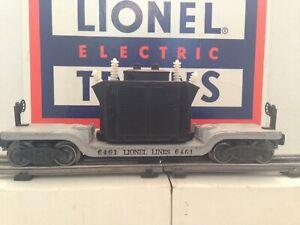 Lionel 6461 Postwar Gray Depressed Flat car With Black Transformer