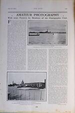 1903 Imprimé Photographique Club Venice à Midi Amateur Photographie