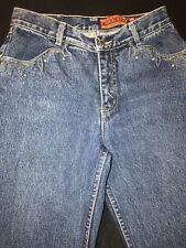 Lawman Jeans Womens Sz.5-slim Cotton/Stitching-Turquoise Studs