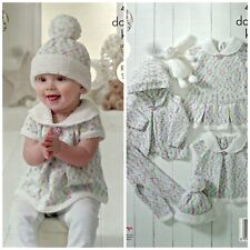 KNITTING PATTERN Baby Dress Hat Leggings Top Hoodie Cherish DK King Cole 4897