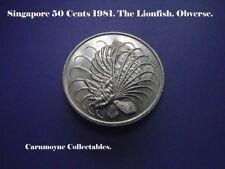 Singapour 50 cents 1981. le poisson-papillon. AH0100.