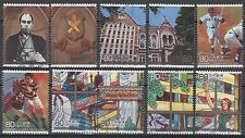 3076a-j Keio University, 150th anniversary (10 USED Stamps)