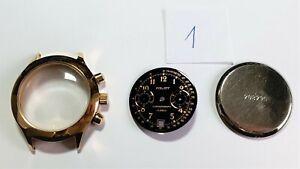 Poljot Chronograph 3133 Uhr Gehäuse+ Zifferblatt+ Zeiger / case dial hands Watch