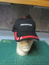Bridgestone Strapback Hat Baseball Cap Black Tires EMBROIDERED FREE SHIPPING