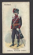 WILLS - SOLDIERS & SAILORS (BLUE BACK) - HOLLAND, HUSSAR, OFFICER, REVIEW ORDER