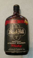 vintage brook hill kentucky straight bourbon whiskey brown bottle