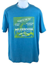 Outdoor Life Unisex Shirt Short Sleeve Wilderness Hiking Climbing Blue Sz: M NWT