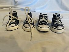 Petrich Navy Blue High Top Dog Sneakers Set of 4 shoes size 5 XL see note