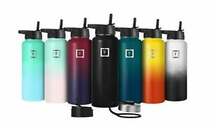 IRON °FLASK- 22 Oz to 64 Oz, Vacuum Insulated Stainless Steel Sport Water Bottle
