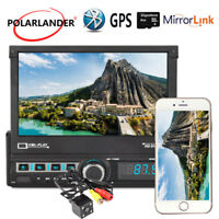 7'' GPS Flip out 2 DIN Stereo MP5 Reversing Image Car Radio Bluetooth +Camera