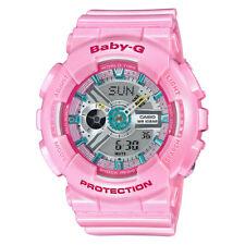 Casio G-Shock Baby-G Women's BA110CA-4A World Time Neo-Pink Resin 43.5mm Watch