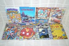 LOOK AND FIND AND OTHER PICTURE RIDDLE BOOKS lot of 8 - BATMAN + IRON MAN + CARS