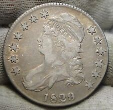 1829 Capped Bust Half Dollar - 50 Cents .High Grade Coin, Free Shipping  (2850)