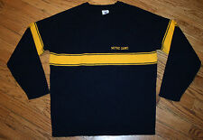 Notre Dame blue & gold acrylic Sweater Men's Medium Irish golf football vintage