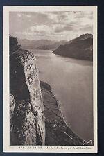 Carte postale ancienne 1938 AIX-LES-BAINS - Le Lac. Rocher à pic de la Chambotte