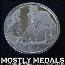 Franklin Mint Sterling Mini-Ingot: 1844 Morse Proves Telegraph To Congress