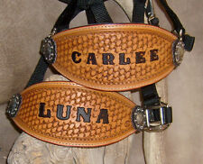 US Made Custom Bronc Halter, Your Horses Name, Or Your Brand. G&E Leather
