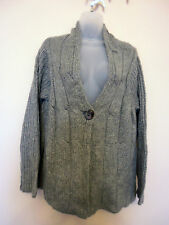 M&CO (XL / UK18 / EU46) GREY SINGLE-BUTTON CARDIGAN - NEW