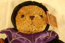 "Brown Teddy Bear Purple Spider Costume Halloween NWT Galerie Plush 11"" Lovey"