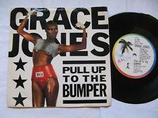 """GRACE JONES """"Pull Up To The Bumper /La Vie En Rose""""1985/1977 Island 7"""",Excellent"""