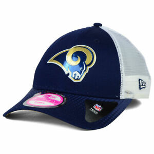 St. Louis Rams New Era NFL Women's Draft Adjustable Chrome Cap Hat Los Angeles