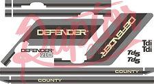 Land Rover calcomanías Rayas 110 Pegatinas de gráficos del condado defensor Landrover