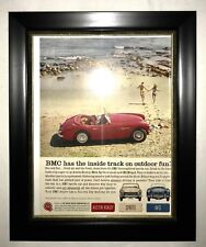 Framed BMC British Motor Corporation Austin Healey MG Magazine Ad Decoration
