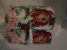 "Floral Cloth Keepsake/Jewelry Box with Tassel - Approx. 5"" x 4"" x 4""  Used"