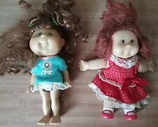 2 CABBAGE PATCH Lil Sprouts 13cms tall mini dolls CPK OAA HKEEPOD