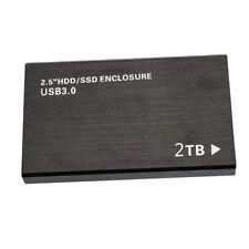 "Portable 2TB 2.5"" External Hard Drive Micro USB3.0 B Mobile Disk for Win 7 8"
