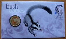AUSTRALIAN BUSH BABIES - SUGAR GLIDER - 2011 PNC STAMP AND $1 COIN COVERS