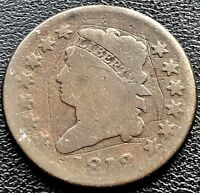 1812 Large Cent Classic Head One Cent 1c Circulated Rare #11624