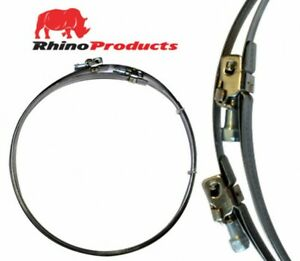 """Rhino Clamps - Ducting Clips - Jubilee Clips 4"""" 5"""" 6"""" 8"""" 10"""" 12"""" 2 Pack"""