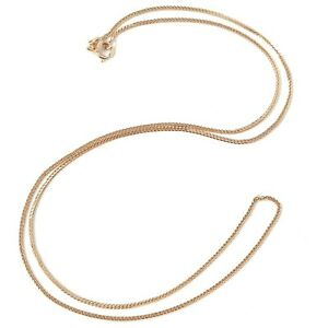 18ct Rose Gold Fine Chain Ladies Franco Style 1.9g 20 Inches Hallmarked