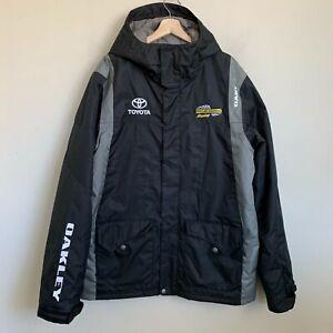 Oakley Jacket Hood Black Softshell Zip Toyota Dollar General Racing Team Size L