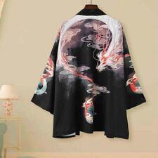 Men Women Kimono Coat Yukata Outwear Cardigan Vintage Chinese Dragon Jacket Top