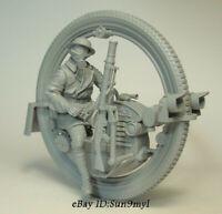 1/35 Motor Soldier Resin Model Kits Unpainted Figure GK Unassembled