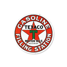 Metal Tin Sign round texaco gasoline decor Bar Pub Retro Poster 30cm diameter