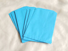 100 -5x7 BLUE Paper Party Bags, Paper Merchandise Serrated Edged Bags